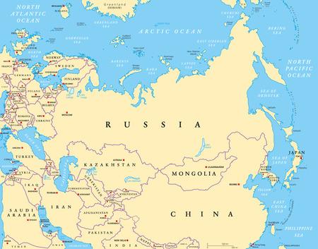 Cartina Politica Dell Asia Con Stati E Capitali.Vettoriale Mappa Politica Dell Asia Con Capitali Confini Nazionali Fiumi E Laghi Il Piu Grande Continente Con I Paesi Russia Cina India Indonesia E Quelli Piu Piccoli Illustrazione Con Etichettatura Inglese Vettore