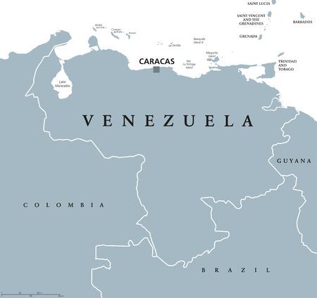 73453239 venezuela political map with capital caracas and national borders bolivarian and federal republic a jpgver6