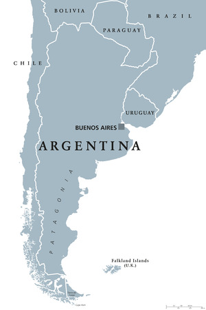 74017859 argentina political map with capital buenos aires national borders and neighbor countries republic in south america