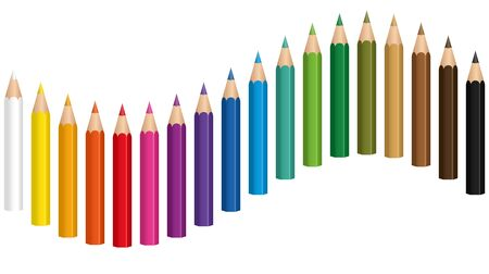 Crayons crayon crayon coloré Vecteurs