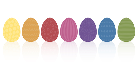 discreet: Vintage easter eggs - discreet muted earthly colors and different old fashioned simple patterns. Isolated vector illustration on white background.