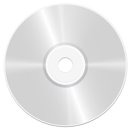 multimedia background: CD - compact disc - realistic isolated vector illustration on white background.