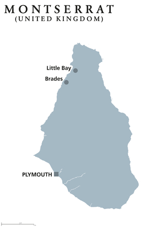 Saint Kitts And Nevis Political Map With Capital Basseterre