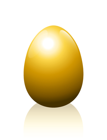 golden egg: Golden egg - symbol for wealth, luxury, success, fortune or any other profitable business issues - isolated vector illustration on white background. Illustration