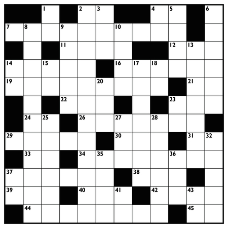 Crossword  Blank Crossword Puzzle Pattern Square Format Template