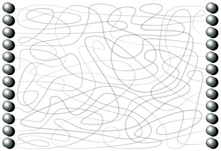 鉄のボールを持つ迷路はあまりにも子供と大人のためのワインディングパスパターン集中ゲームを介してラインによって接続されます。