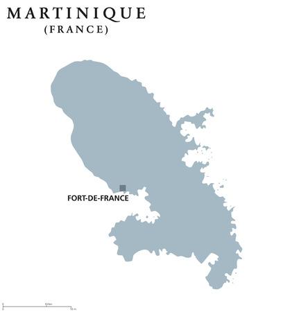 Martinique political map.