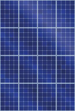 Zonnepaneel achtergrondpatroon - thermische collector met lichtreflectie van zonnestralen - illustratie van fotovoltaïsche technologie - naadloos uitbreidbaar in alle richtingen, verticale oriëntatie.