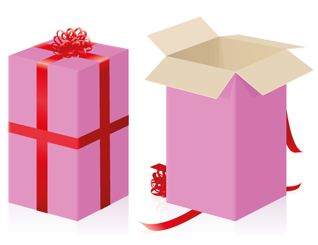 Pink gift icon