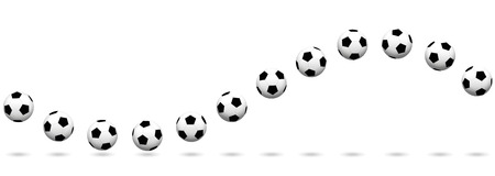 Soccer ball wave. Seamless extendable vector illustration on white background.  イラスト・ベクター素材