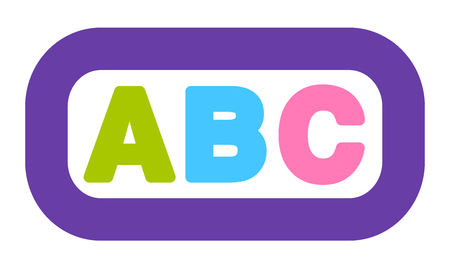 ABC icon, colorful pictogram. Isolated vector illustration on white background.