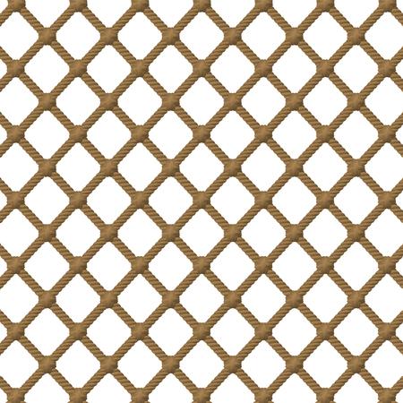 Rope net pattern. Isolated vector illustration on white background. Ilustração