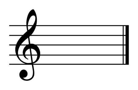 C major and A minor. Key of C. Major scale based on C. One of most common key signatures in western music. White keys on piano. No flats and no sharps. Relative key is A minor. Illustration. Vector.
