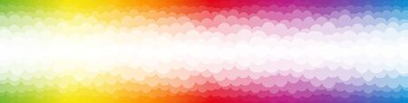 Rainbow colored bubbles on color spectrum backdrop. Vector illustration on white background.