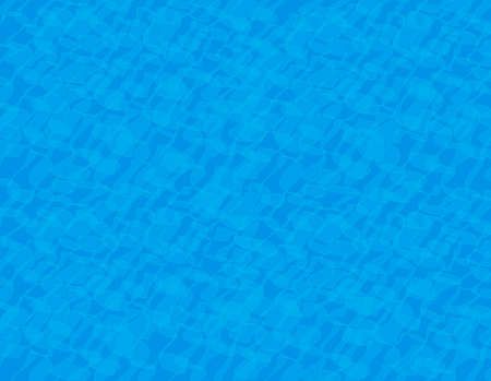 Pool water and light visual pattern. Blue water background. Vector illustration.