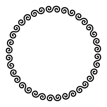 Celtic double spirals forming a circle shaped frame.