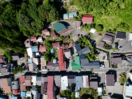 Japanese rooftops from above