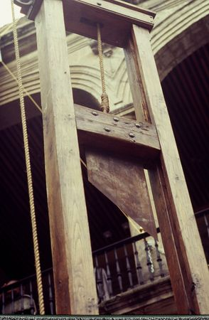 capital punishment: guillotine on display