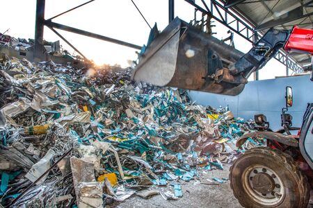recycling industry, helping to save the resources of our planet and protect our planet and climate change Reklamní fotografie
