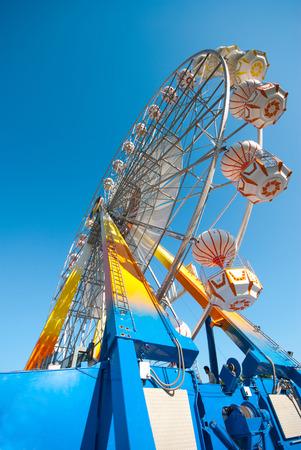 Ferris on vivid blue sky background Banco de Imagens - 27037932