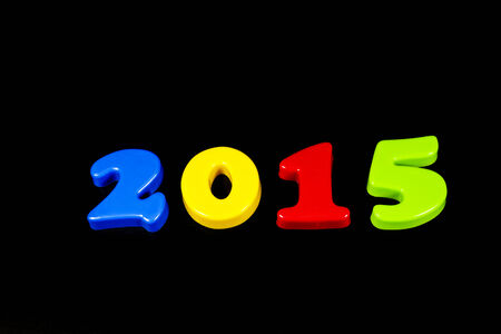 next year: 2015 next year on Black Backgrounds. Stock Photo