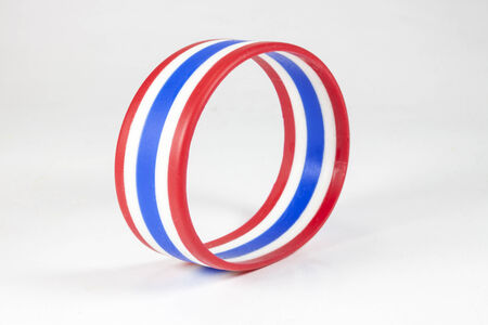 wristbands: Wristbands striped flag of Thailand On white background