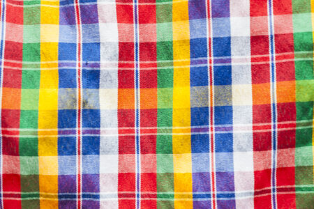 Checkered loincloth fabric Colorful background photo