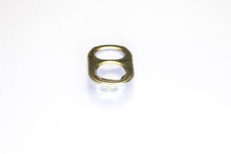 ring pull: ring pull aluminum on white background