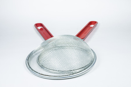 bolter: Kitchen strainer isolated on white background  View from above