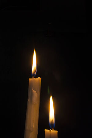 easter candle: Candle in the Dark