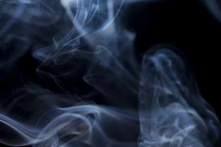 steamy: smoke collection on black background
