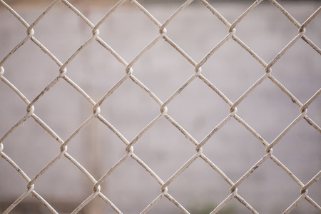 Wire Mesh Fence Close-Up Stock Photo