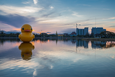 thani: Big Duck in Nong Prajak Udon Thani Thailand.