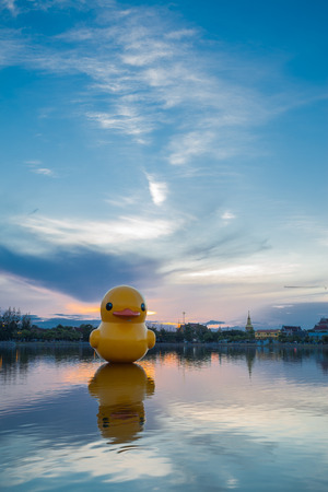 Big Duck in Nong Prajak Udon Thani Thailand.