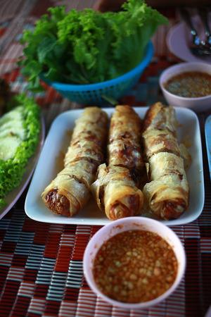 Thai spring rolls Stock Photo - 27190393
