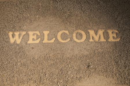 Welcome Old doormat. photo