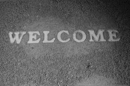 Welcome Old doormat. photo