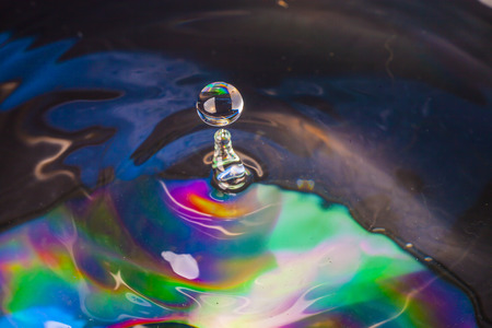 Colorful Water drop photo