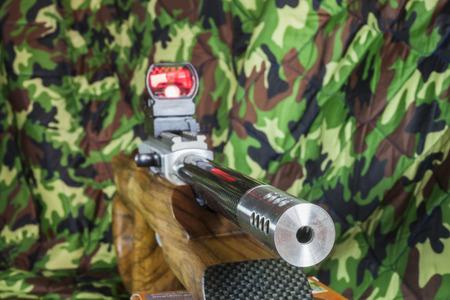 gunfire: .22 LR semi automatic carbine Stock Photo