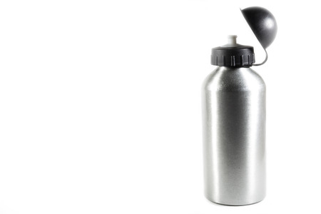stopper: sport water bottle on a white background  Stock Photo