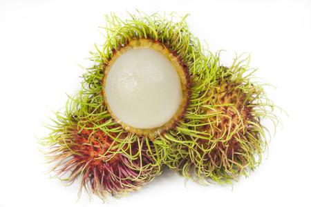 Rambutan on white background photo