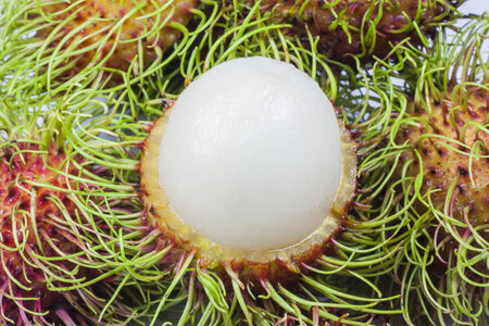 Rambutan on white background photo