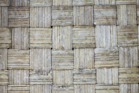 handcraft of bamboo weave pattern  texture and background photo