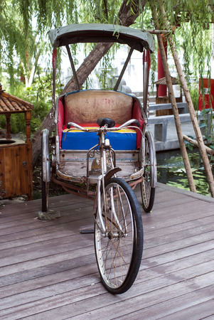 Tricycle bicycle antique photo