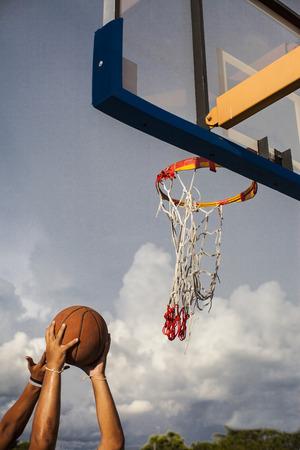 Basketball goal ,playing basketbal