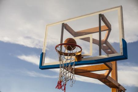 Basketball goal ,playing basketbal photo