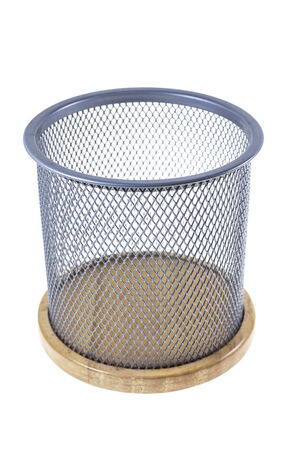 Mesh basket on a white background. photo