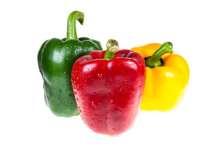 sweet pepper on white background. photo