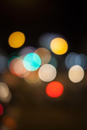 heptagon: lights of bokeh on black background