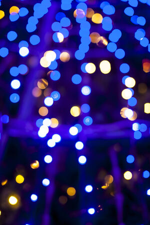 Bokeh lights Christmas background. photo